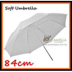 Camzilla 84cm Soft White Shoot Through Photo Studio Umbrella