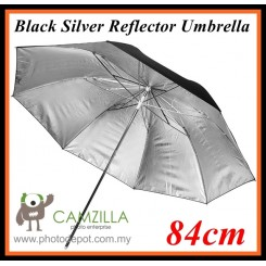 Camzilla 84cm Black / Silver Reflector / Translucent Studio Umbrella