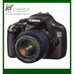 Canon EOS 1100D (Brown) Digital SLR Camera + EF-S 18-55mm f/3.5-5.6 IS II Lens (Canon Malaysia)