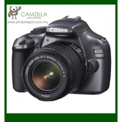 Canon EOS 1100D (Grey Colour) Digital SLR Camera + EF-S 18-55mm f/3.5-5.6 IS II Lens (Canon Malaysia)