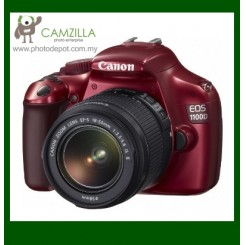 Canon EOS 1100D (Red) Digital SLR Camera + EF-S 18-55mm f/3.5-5.6 IS II Lens (Canon Malaysia)