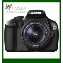 Canon EOS 1100D (Black) Digital SLR Camera + EF-S 18-55mm f/3.5-5.6 IS II Lens (Canon Malaysia)
