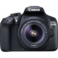 Canon EOS 1300D (Black) Digital SLR Camera + KIT EF-S18-55mm f/3.5-5.6 IS II