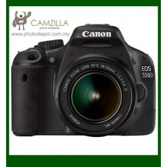 Canon EOS 550D Digital SLR Camera + EF-S 18-55mm f/3.5-5.6 IS Lens (Free Canon DSLR Bag + 4GB Memory Card)