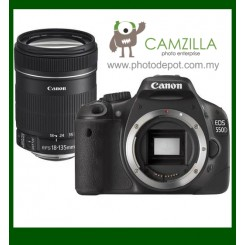 Canon EOS 550D Digital SLR Camera + EF-S 18-135mm f/3.5-5.6 IS Lens (Free Canon DSLR Bag + 4GB Memory Card)