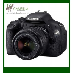 Canon EOS 600D Digital SLR Camera + EF-S 18-55mm f/3.5-5.6 IS II Lens (Canon Malaysia) (Free Canon EOS Digital Shoulder Camera Bag + 8GB Memory Card)