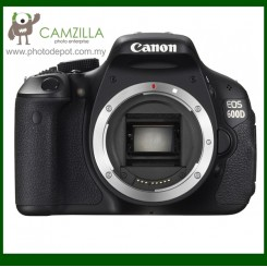 Canon EOS 600D Digital SLR Camera Body Only (Canon Malaysia) (Free Canon EOS Digital Shoulder Camera Bag + 8GB Memory Card)
