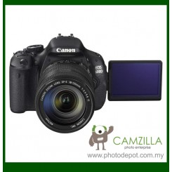 Canon EOS 600D Digital SLR Camera + EF-S 18-135mm f/3.5-5.6 IS Lens (Canon Malaysia) (Free Canon EOS Digital Shoulder Camera Bag + 8GB Memory Card)