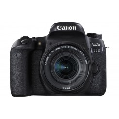 Canon EOS 77D ( Black ) Digital SLR Camera + KIT EF-M18-55mm f/3.5-5.6 IS STM