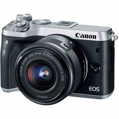 Canon Mirrorless EOS M6 ( Black and silver ) + Kit EF-M15-45 IS STM