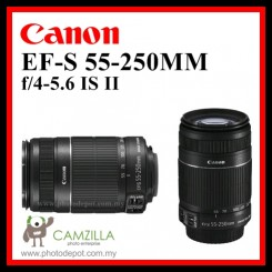 Canon EF-S 55-250mm f/4-5.6 IS II Telephoto Zoom Lens ( Malaysia Warranty )