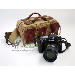 COURSER F3001 Canvas SRL Camera Waist Pouch Bag - Brown