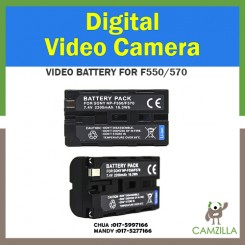 NP-F550 Digital Camera Battery Replacement (2200mAh, 7.4V, Lithium-Ion) - Compatible with Sony HXR NX5U, HDR FX1, NEX FS100, HDR FX7, HVR V1U, HVR Z1U, HVR HD1000U, HDR FX1000, HVR Z5U, DSR PD150