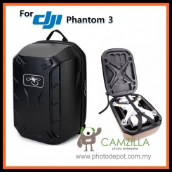 Camzilla Hardshell Shoulder Backpack Carry Case for DJI Phantom 3 RC Quadcopter Dron - Black Color