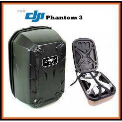 Camzilla Hardshell Shoulder Backpack Carry Case for DJI Phantom 3 RC Quadcopter Dron - Carbon Color
