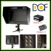 """F&V DOF F1 7"""" HDMI LCD On Camera Monitor with Sun Shade - With Battery & Charger"""