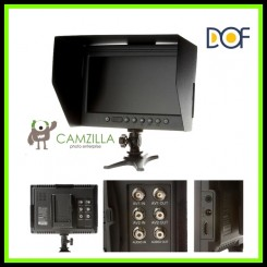"F&V DOF F1 7"" HDMI LCD On Camera Monitor with Sun Shade for Canon Nikon Sony Panasonic BMCC BMPCC DSLR Cameras"