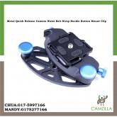 Metal Quick Release Camera Waist Belt Strap Buckle Button Mount Clip