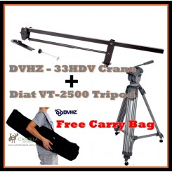 DVHZ - 33HDV + Diat VT-2500 Tripod - Free Carry Bag