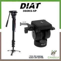 Diat Madv 360 + KS5P Video Monopod(Black)