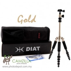 DIAT AM-225 (Gold) Professional Tripod with Ball Head for dSLR Digital Camera