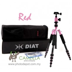 DIAT AM-225 (Red) Professional Tripod with Ball Head for dSLR Digital Camera