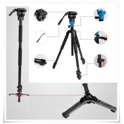 Diat TA253AKS-5P Professional Fluid Head Photo Video Tripod / Monopod