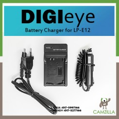 DigiEye LP-E12 Battery Charger for Canon EOS M, LP E12, LC-E12 Digital Camera