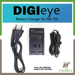 DigiEye NB-10L Battery Charger CB-2LCE for CANON POWERSHOT SX40 G1X SX50 HS G15 SX40IS Digital Camera