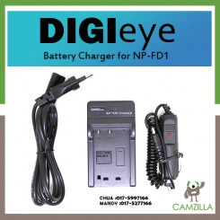 DigiEye NP-FD1 / NP-BD1 Battery Charger for Sony TX1 T900 T700 T500 T300 T200 T90 T77 T75 T70 T2 G3