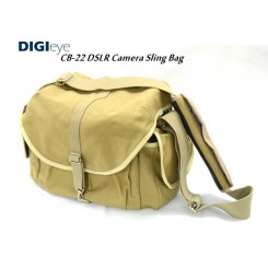 DIGI EYE CB-22 Dslr Camera Sling Bag (Brown)For Canon Nikon Sony Fujifilm Olympus