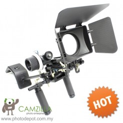 DIGIEYE DSLR VCR Rig Movie Kit Shoulder Mount+Follow Focus+Matte Box