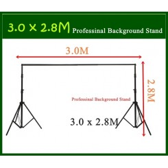 DigiFox 3x2.8M Professinal Photography Photo Backdrops Background Support System Stands
