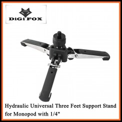 DigiFox M-1 Hydraulic Universal Three Feet Support Stand for Monopod with 1/4""