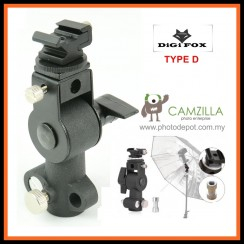 DigiFox D-Type Swivel Flash Shoe Umbrella Holder Speedlite Flash Bracket For Light Stand Tripod