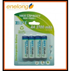 Enelong BPI High Capacity AA 2700mAh NiMH Rechargeable Battery x 4pcs