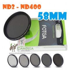 Fotga 58mm ND2 to ND400 slim fader ND filter adjustable variable neutral density
