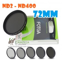 Fotga 72mm ND2 to ND400 slim fader ND filter adjustable variable neutral density