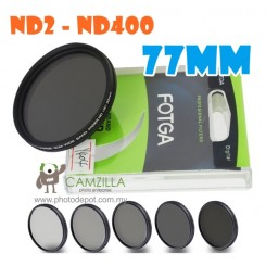 Fotga 77mm ND2 to ND400 slim fader ND filter adjustable variable neutral density