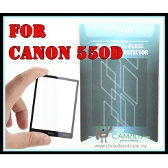 FOTGA Clear Optical Glass Mirror LCD Screen Protector for Canon 550D