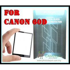 FOTGA Clear Optical Glass Mirror LCD Screen Protector for Canon 60D