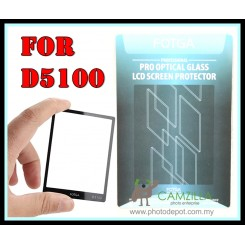 FOTGA Clear Optical Glass Mirror LCD Screen Protector for Nikon D5100