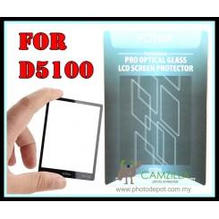 FOTGA Clear Optical Glass Mirror LCD Screen Protector for Nikon D5100