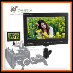 "Feelworld 7""On-Camera\Crane Jib LCD Video Monitor Kit W/BNC Sunhood Hot Shoe"