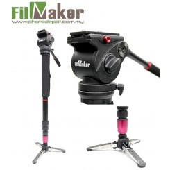 FilmMaker FM-02 Fluid Video Monopod with Fluid Video Head For Dslr Video Cam