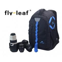 Fly Leaf FL-327 # Pro Camera / Laptop Backpack - Blue