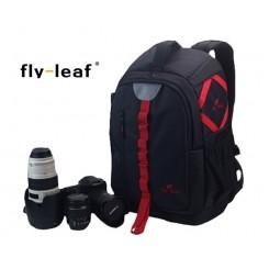 Fly Leaf FL-327 # Pro Camera / Laptop Backpack - Red