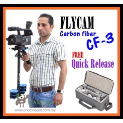 Flycam CF3 carbon fiber video stabilizer With Free Quick Release & Carrying Bag