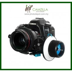 Camzilla-FF2 Follow Focus w/ Gear Ring Belt Mounts Directly on DSLR Canon Nikon Sony