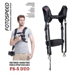 Foto Speed New 2014 FS-5 PRO DSLR Camera Sling Shoulder Double Strap